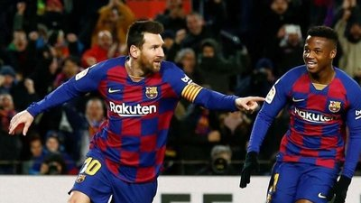 Messi salva el debut de Setién