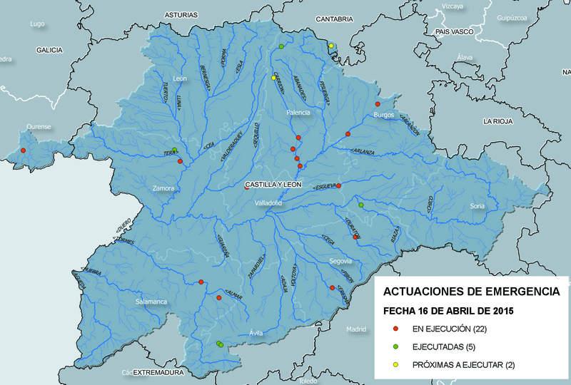 Cuenca Del Duero Mapa.El Plan Fluvial Deja 1 1 Millones En La Cuenca Del Duero En