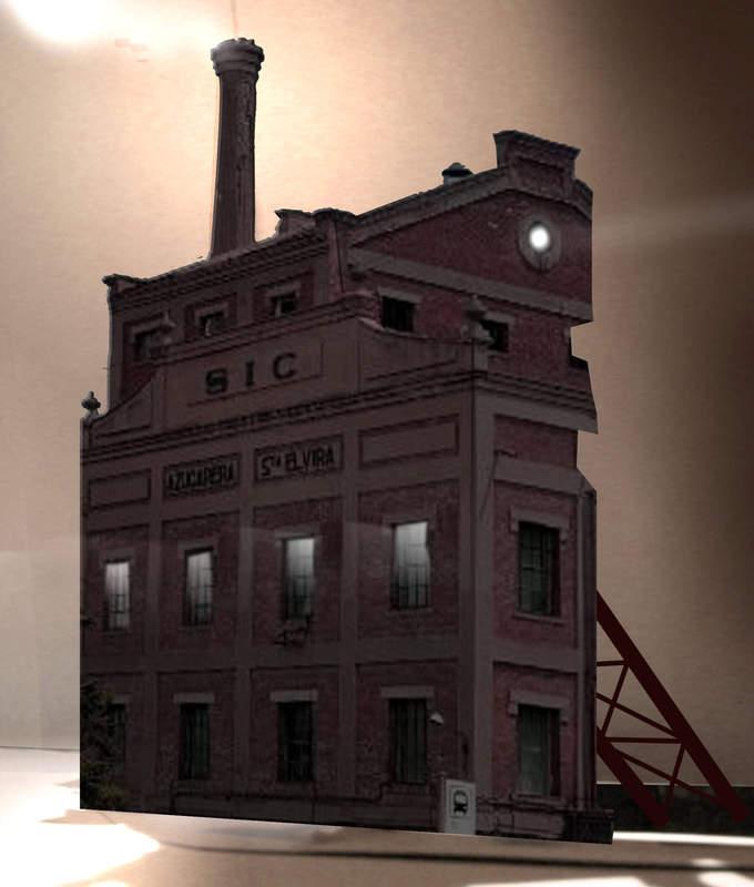 Paredes de azúcar para   un edificio abandonado
