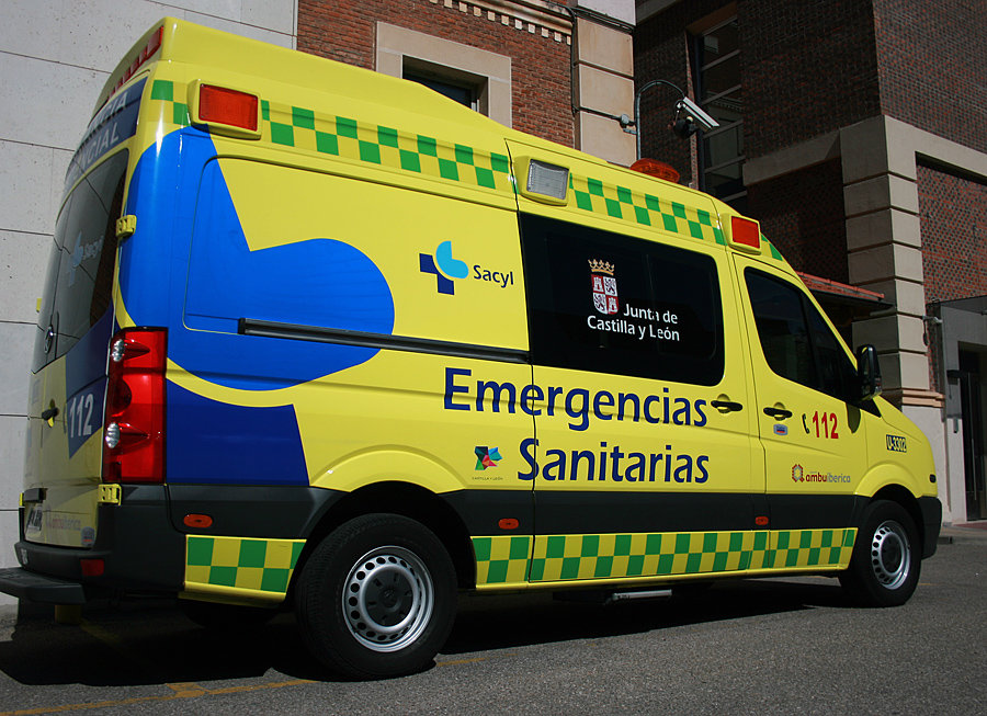 Una ambulancia del 112. EMERGENCIAS 112