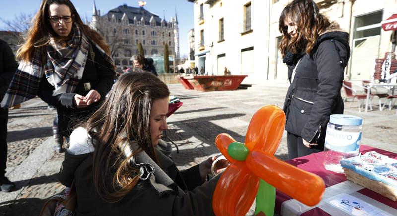 Actos en la celebración del Día del Autismo el año pasado, que este año no podrá celebrarse.